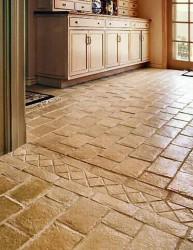 Sol en pierre dans la cuisine