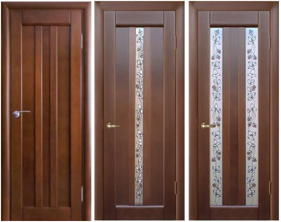 Portes intérieures - types, caractéristiques, installation