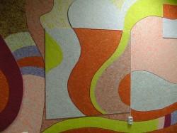 dessin de papier peint liquide