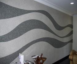 papier peint liquide sur le mur
