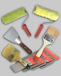 outils de peinture murale
