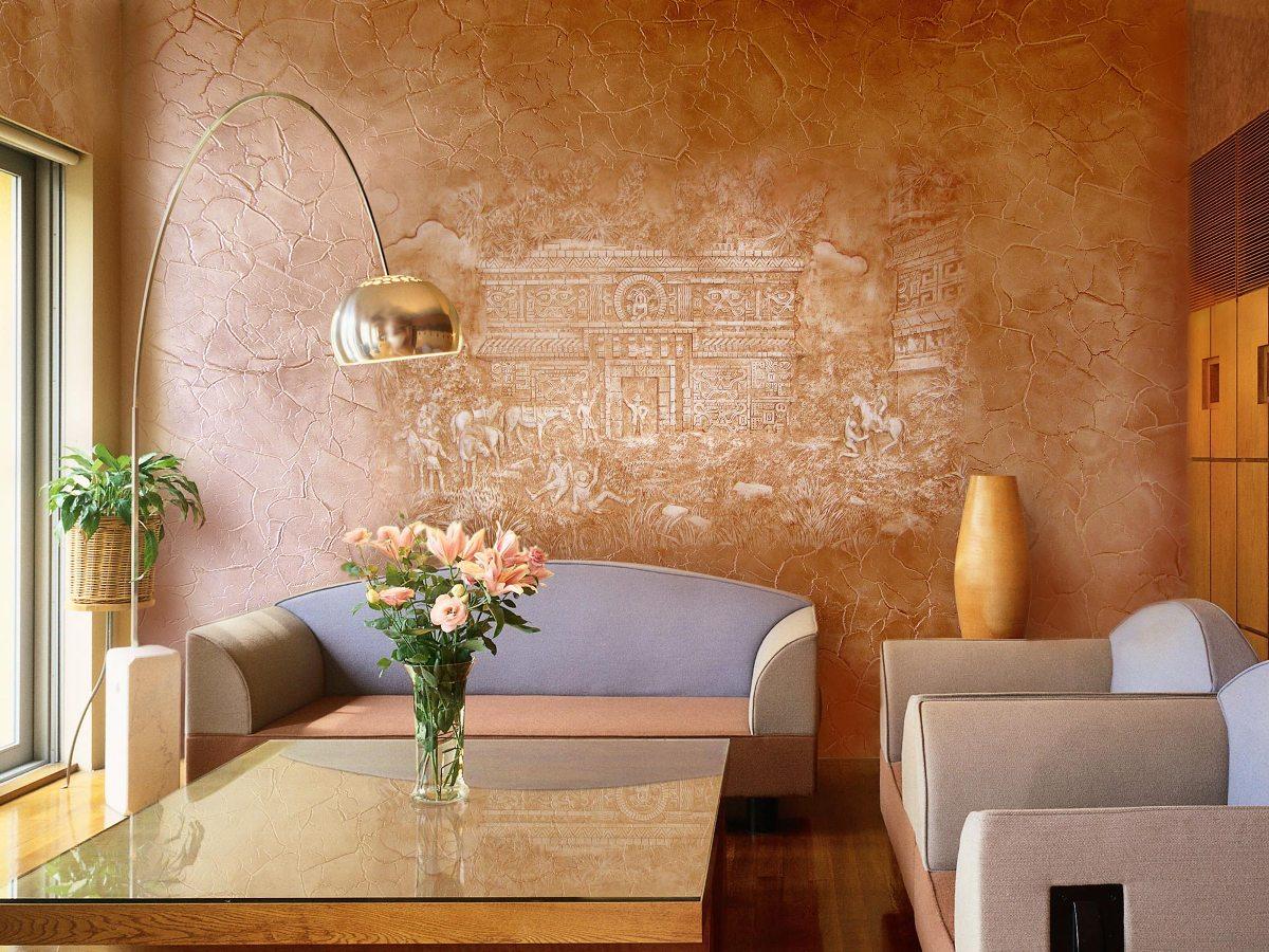 Enduit décoratif: types, application, peinture