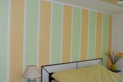 peinture murale en deux couleurs