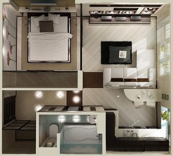 conception de petits appartements
