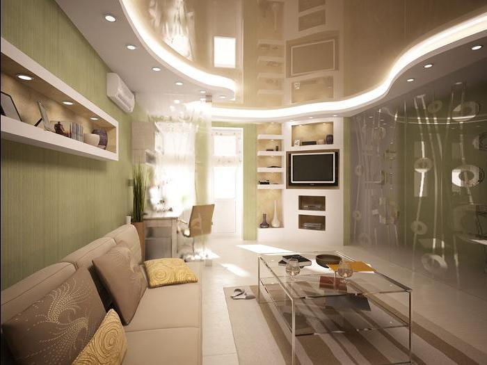conception du plafond des petits appartements