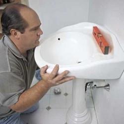 installation de lavabo sur pied