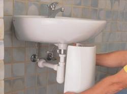 installation de lavabo sur pied 3