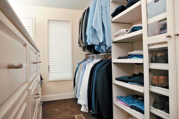 9 conseils pour concevoir un petit dressing dans l'appartement + photo