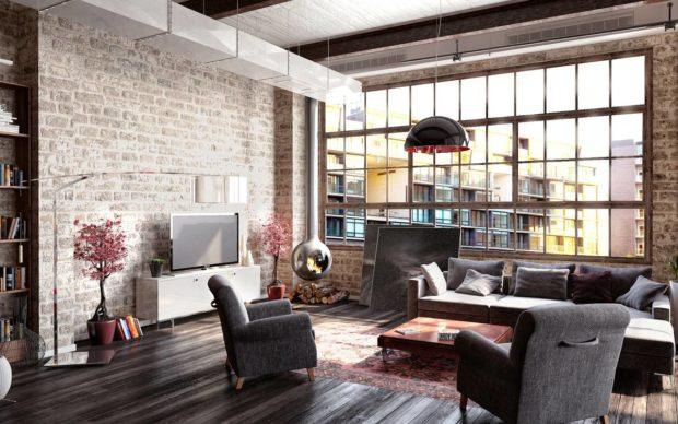 Style loft à l'intérieur de l'appartement: 12 conseils pour organiser + photo