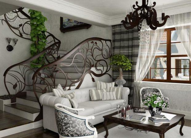 Style Art Nouveau à l'intérieur: 8 caractéristiques principales + photo