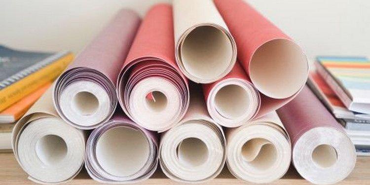 Papiers peints en papier: sélection et collage
