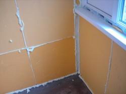 Isolation du balcon avec de la mousse de polystyrène extrudé 1