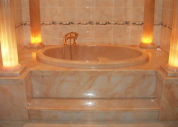 Baignoires en marbre coulé