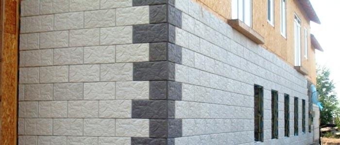 tuile de béton pour la façade de la maison