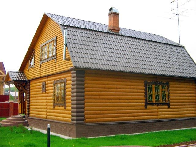 parement en bois pour la façade de la maison 2