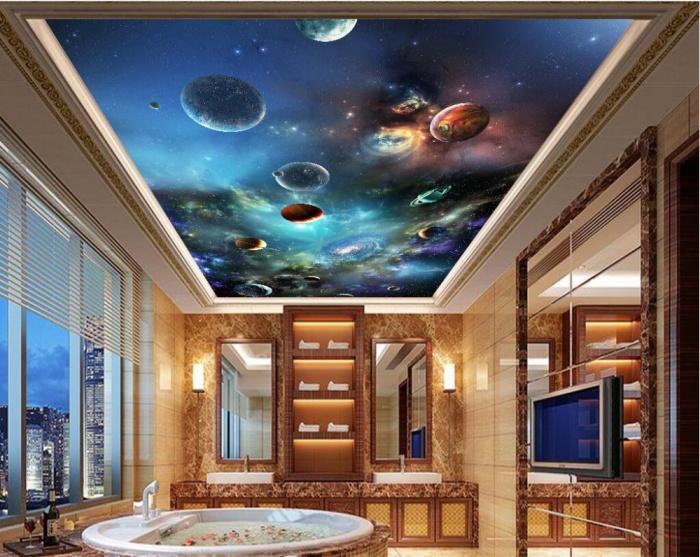 Papiers peints au plafond: 5 conseils pour choisir et coller