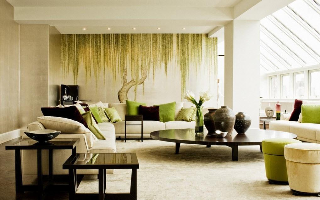 10 matériaux pour décorer les murs du salon