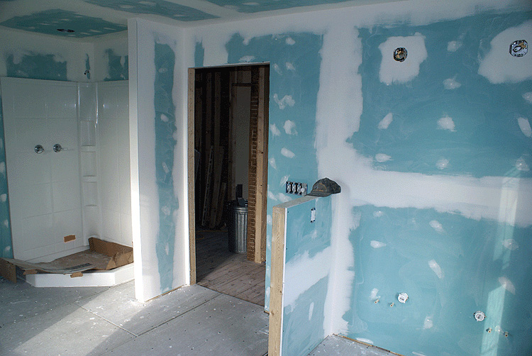 cloison sèche pour murs de salle de bain