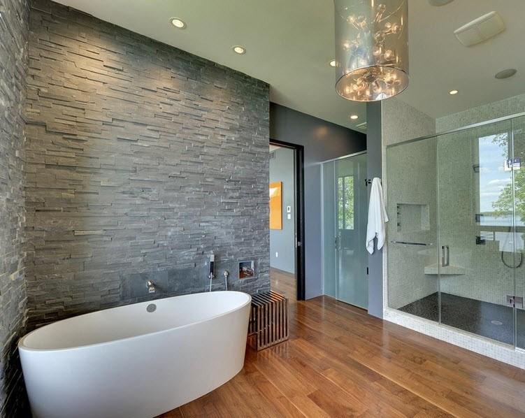 10 matériaux adaptés à la décoration murale dans la salle de bain