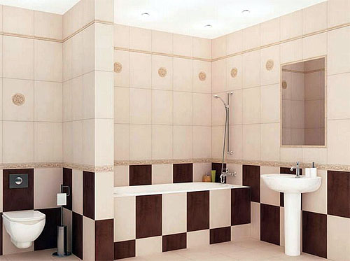 carreaux de céramique pour la décoration murale de salle de bain