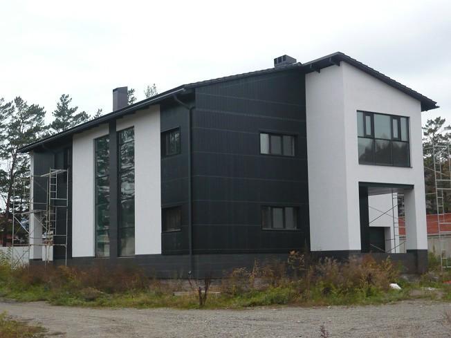 carreaux de porcelaine pour la façade de la maison