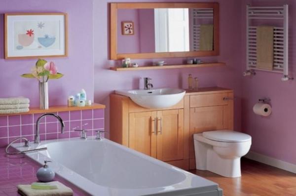 peinture murale de salle de bain