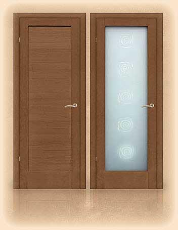 la porte intérieure est aveugle et vitrée