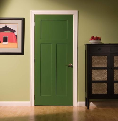 porte intérieure peinte