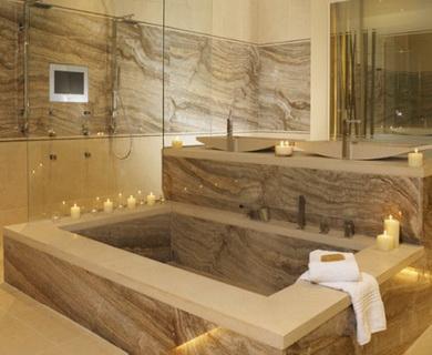 pierre naturelle pour murs de salle de bain