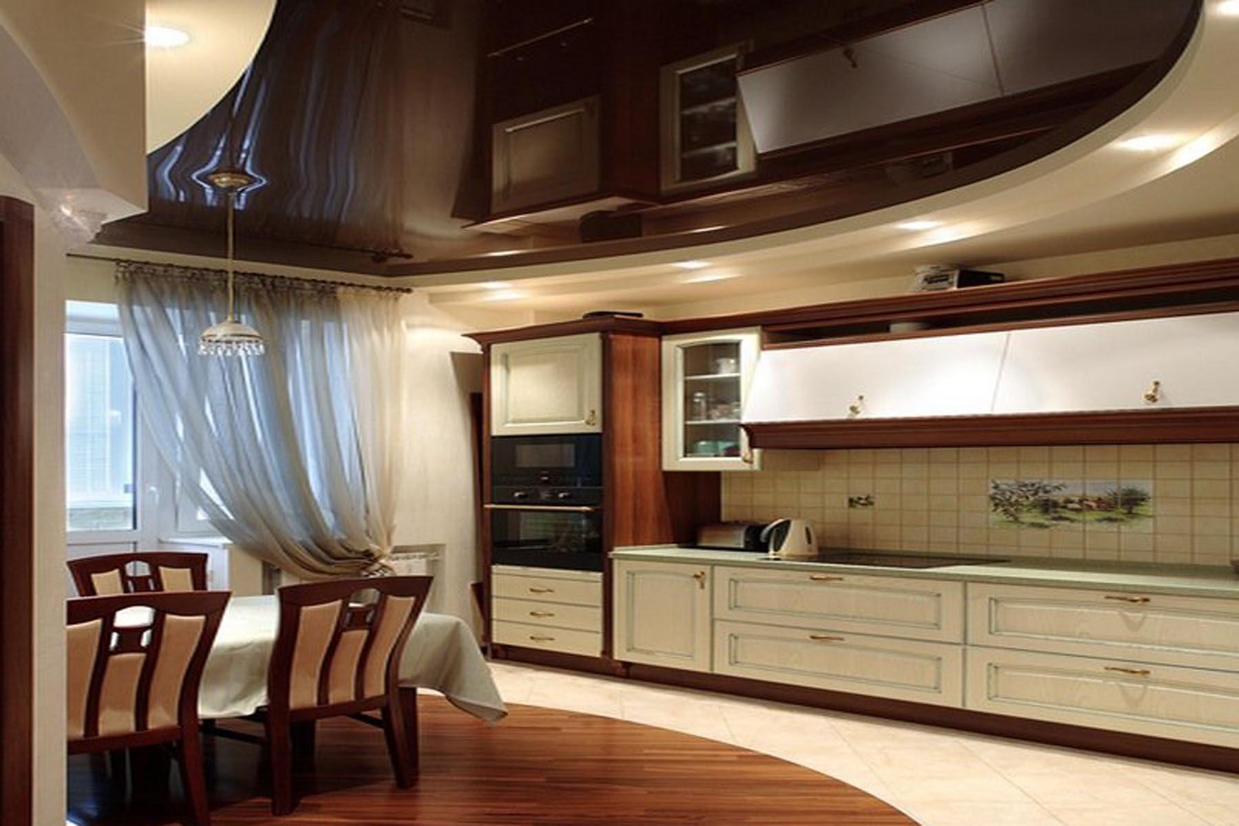 9 matériaux pour la finition du plafond dans la cuisine