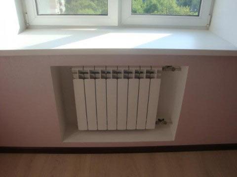niche de radiateur pour cloison sèche