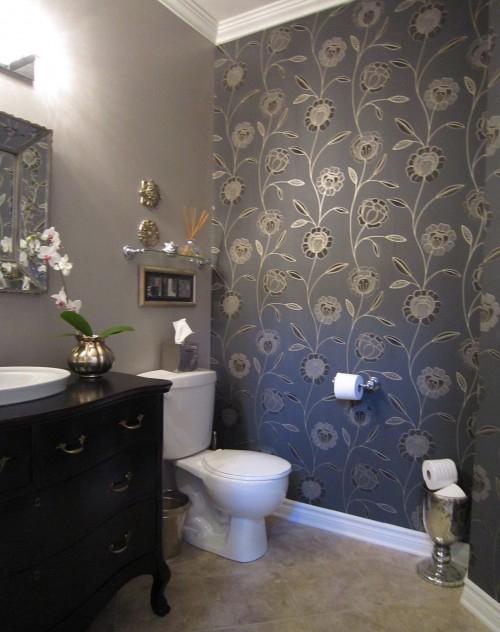 papier peint pour décorer les murs de la salle de bain