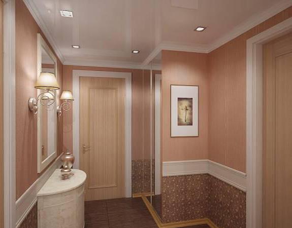 Comment choisir le papier peint pour le couloir: vue, couleur, combinaison