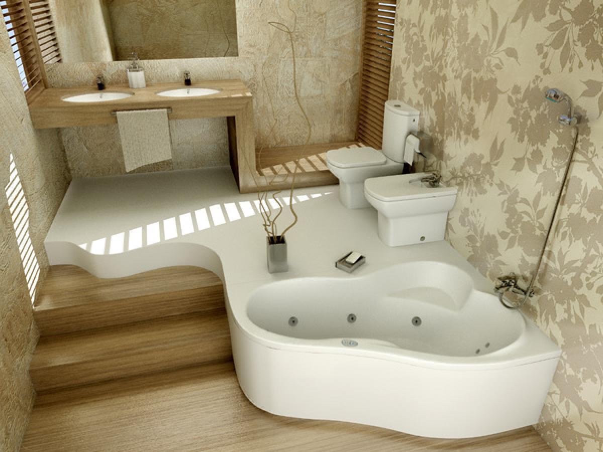 7 conseils pour décorer la salle de bain avec du papier peint: choix et collage