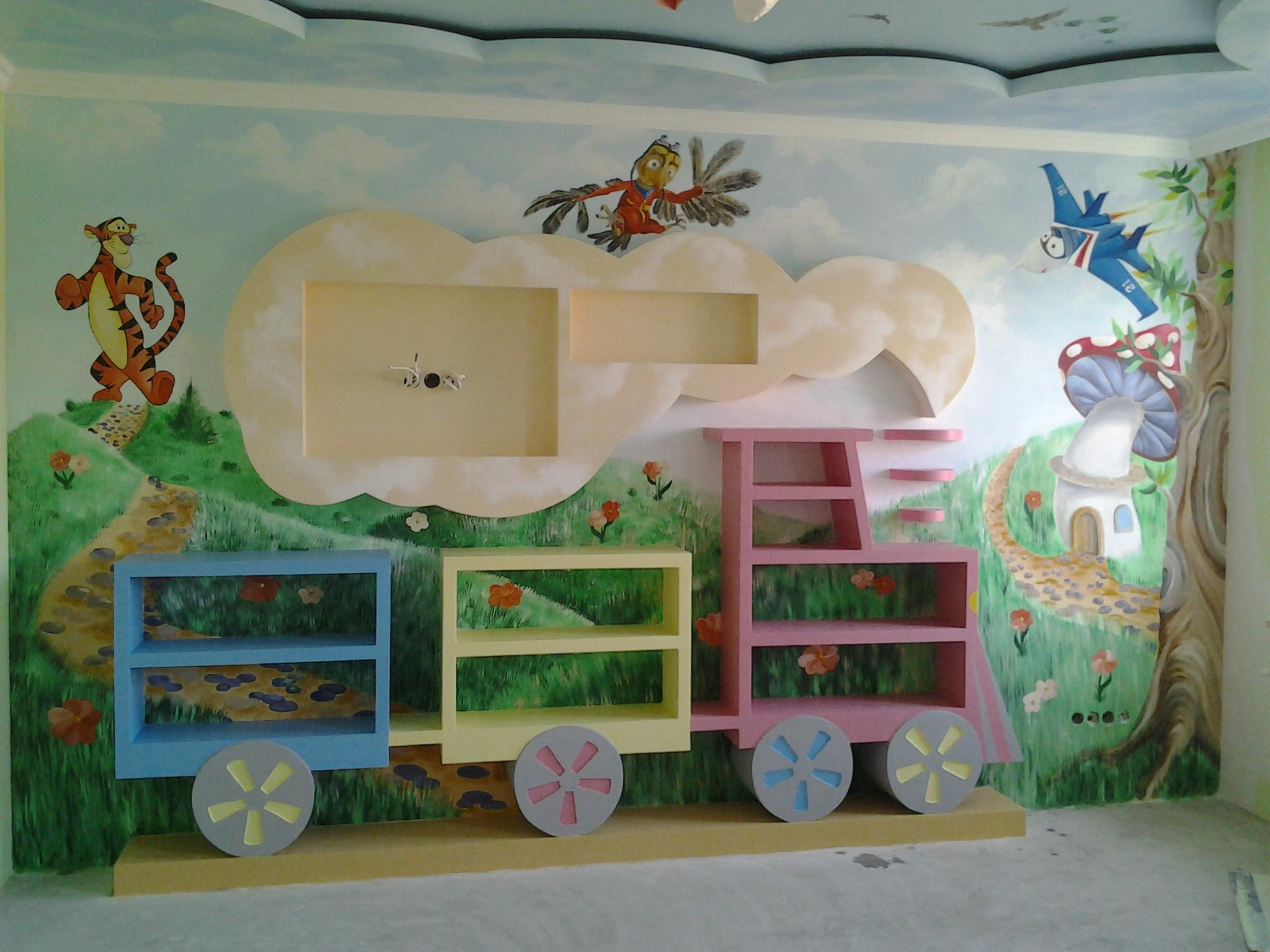 décoration murale en peinture enfant 2