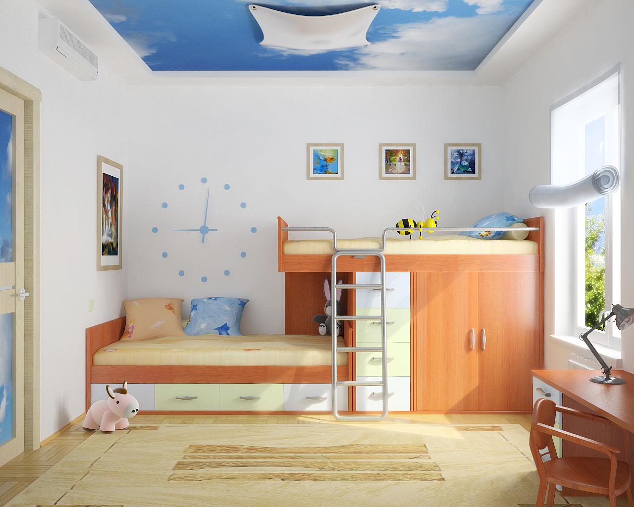 décoration murale en peinture enfant 4
