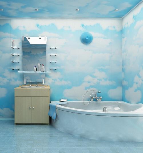 panneaux en plastique pour décorer les murs de la salle de bain