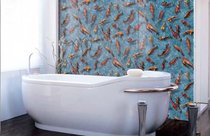 film autocollant pour murs de salle de bain