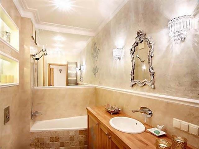 stuc pour murs de salle de bain