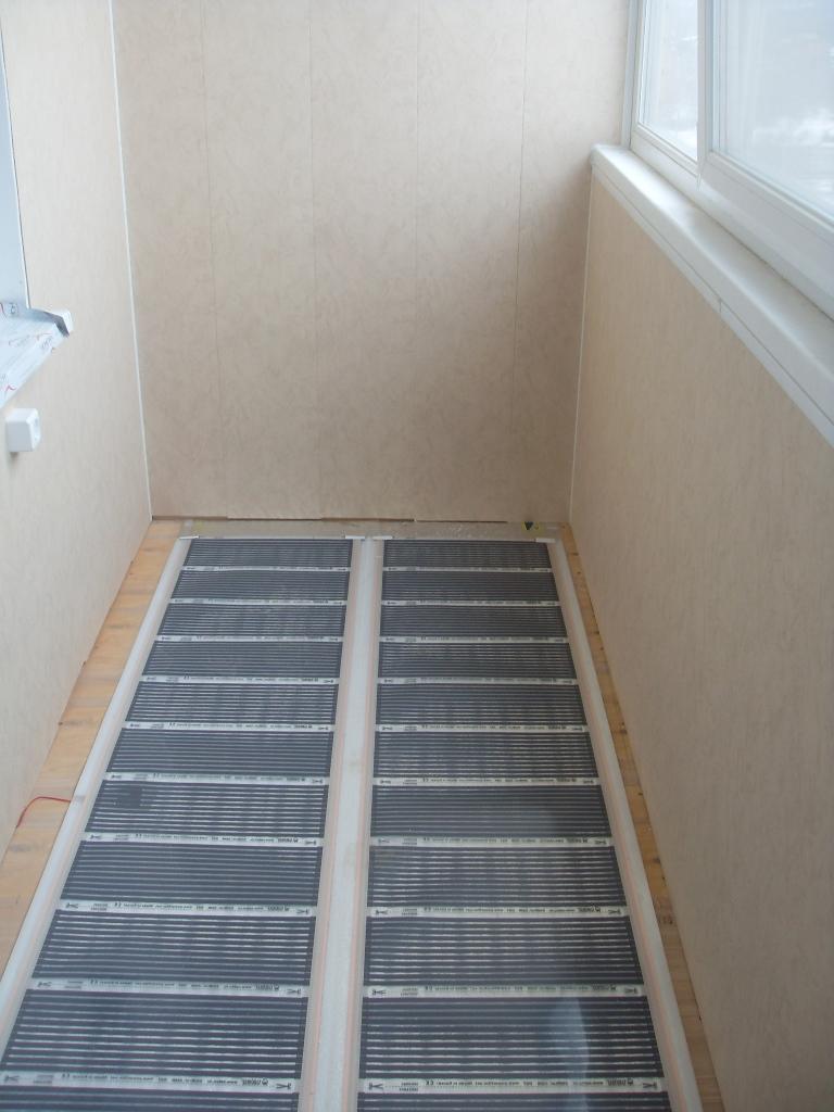 planchers chauffants sur le balcon