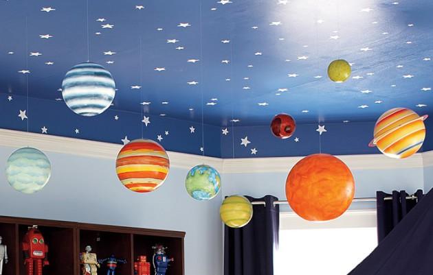 7 matériaux pour décorer le plafond de la pépinière