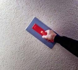 réchauffer l'intérieur du garage avec du plâtre chaud