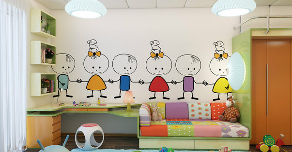 6 matériaux pour la décoration murale dans la chambre des enfants