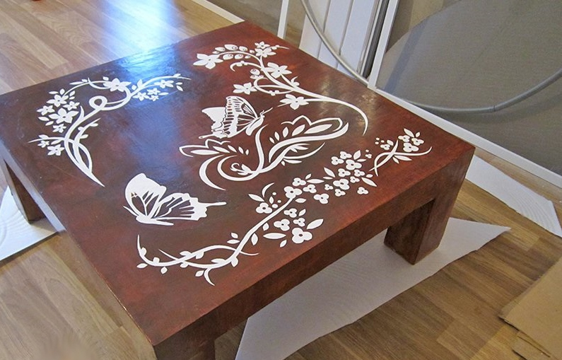 table basse en placoplâtre